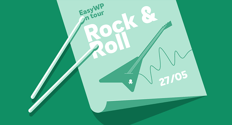 Mockup of a rock and roll concert poster.
