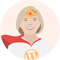 Sue Dunlevie blogging superhero
