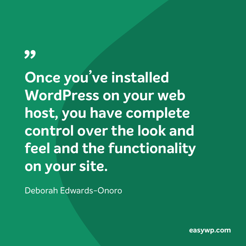 Deborah Edwards-Onoro on WordPress