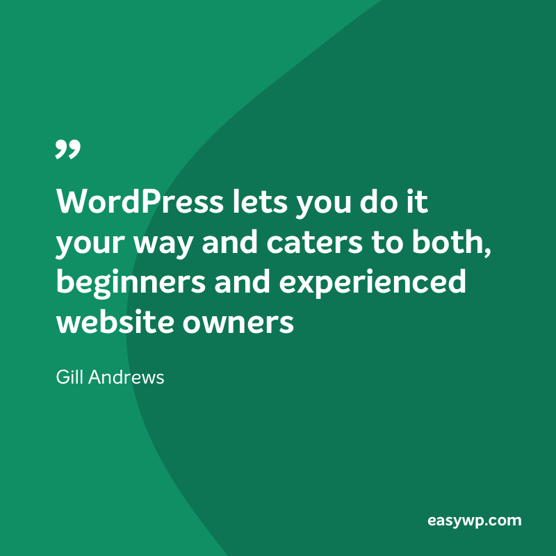 Gill Andrews on WordPress