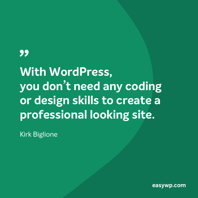 Kirk Biglione on WordPress