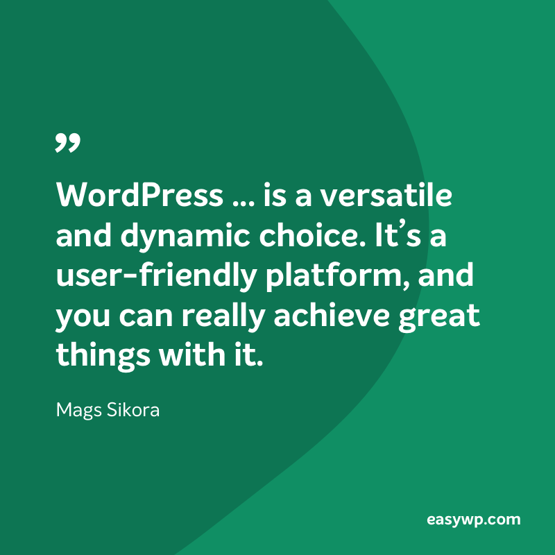 Mags Sikora on WordPress