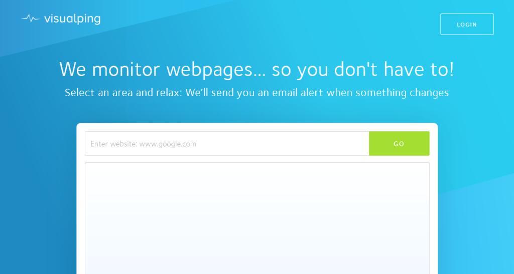 Visual Ping website monitoring tool screenshot
