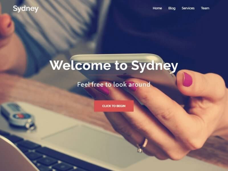 Preview of the Sydney WordPress theme.