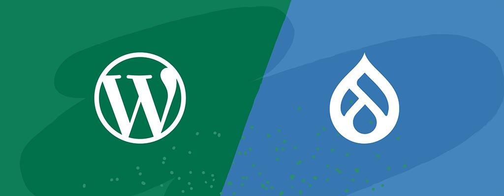 WordPress vs. Drupal Logos