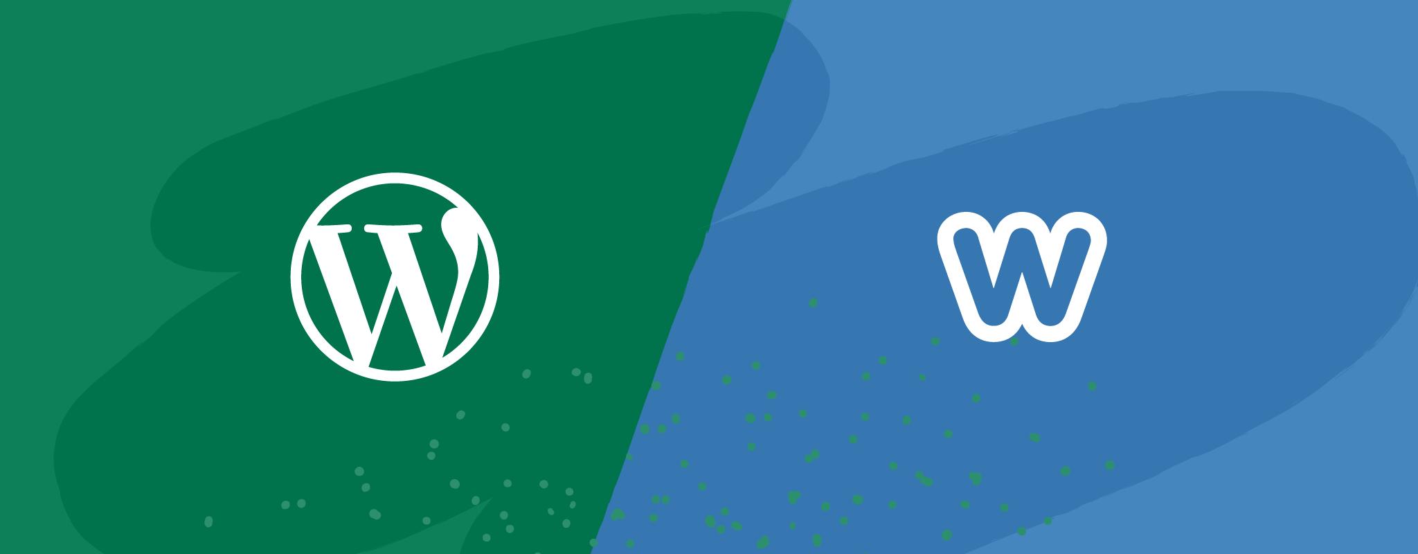 WordPress and Weebly Logos