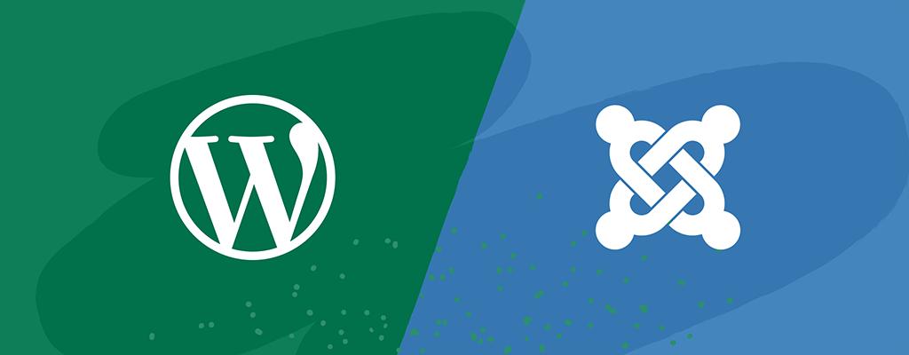 WordPress and Joomla logos