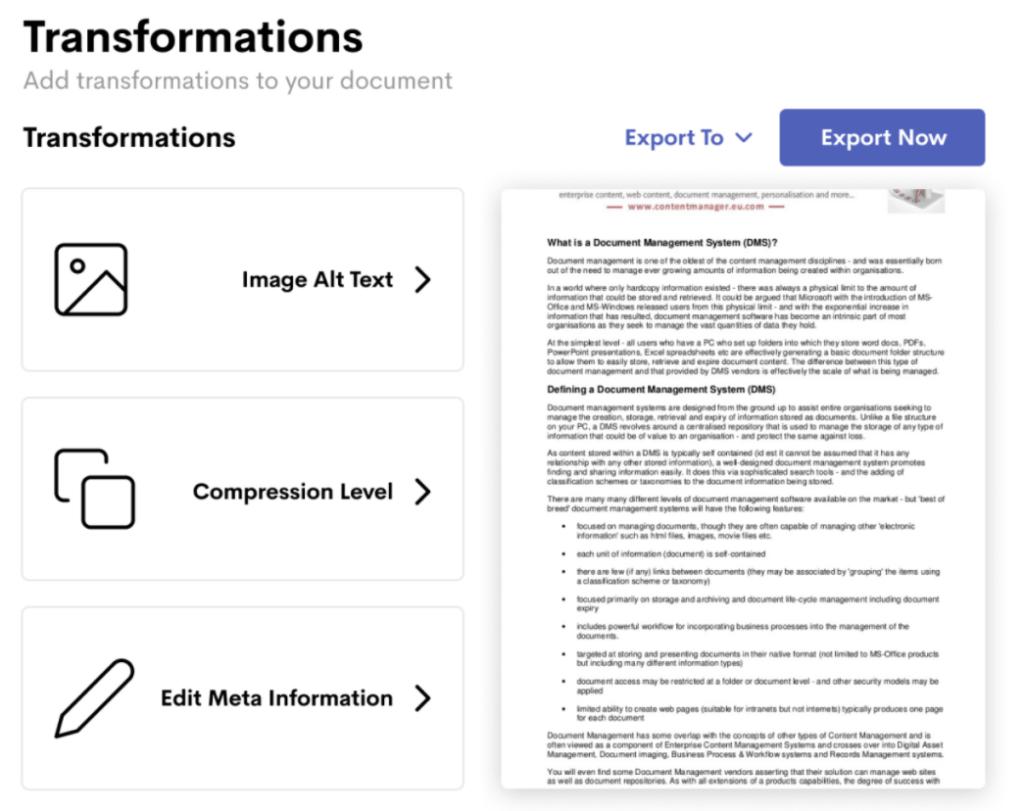 The Wordable WordPress plugin export process.