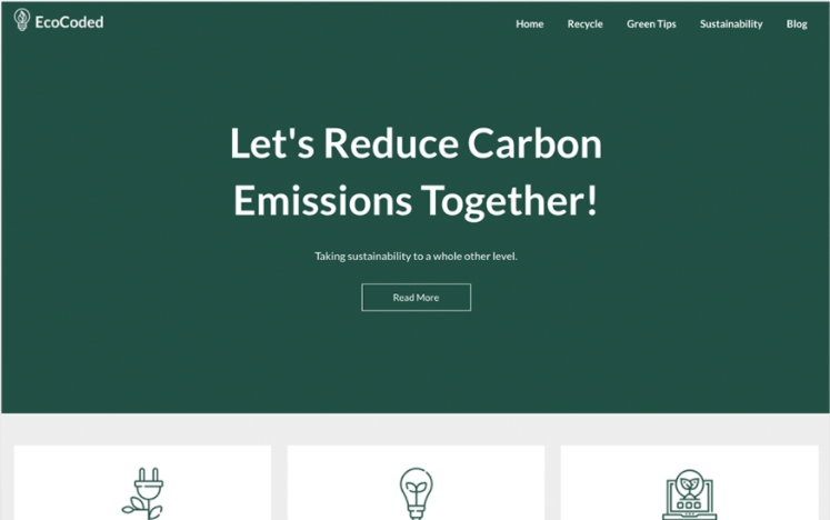 Example of the EcoCoded theme from SuperbThemes