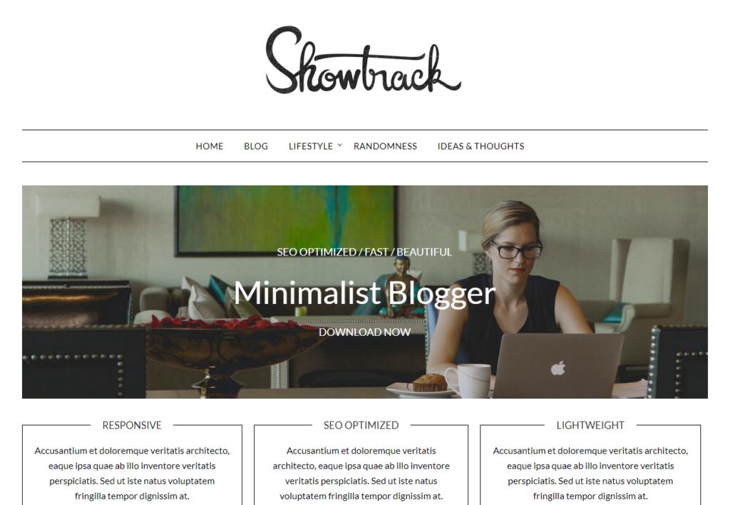 Example of Minimalist Blogger theme from SuperbThemes