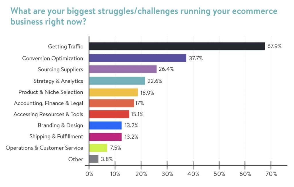 Biggest ecommerce challenges infographic