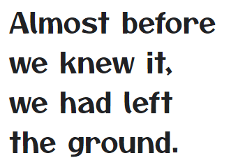 Example of a Google Font